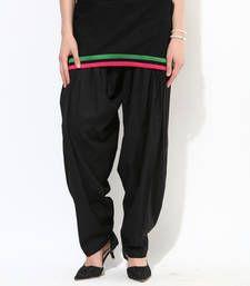 Buy Cotton Black Patiala with Pockets pyjama online