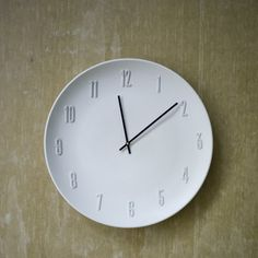 Make an extra-large ceramic wall clock for a fraction of the price of buying one!