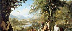 Wenzel Peter, Adam et Eve au Paradis Terrestre Genesis Creation, Genesis 2, Adam Et Eve, Tree Day, The Creation Of Adam, Art Antique, Paradise Garden, Living Off The Land, Garden Of Eden