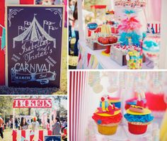 carnival theme party | Circus Carnival themed birthday party via Kara's Party Ideas ...