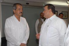 El gobernador Javier Duarte de Ochoa asiste a Reunión-Desayuno con el Dr. José Ángel Córdova Villalobos, Secretario de Salud