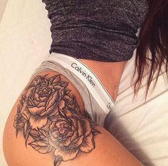 Rose thigh tattoo                                                                                                                                                                                 More