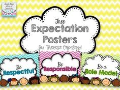 I have three #expectations posted in my classroom: be respectful, be responsible, and be a role model. These expectations guide our attitudes, actions, learning, and behaviors all year long.