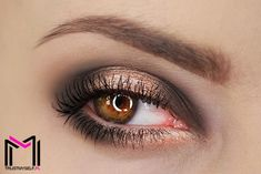 Makeup Geek Eyeshadows in Gold Digger, Mocha and Shimma Shimma. Look by: trustmyself