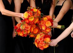 fall wedding bouquets...love to use bear grass!