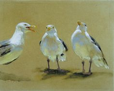 The one on the right is the Seagull King.  Jamie Wyeth.