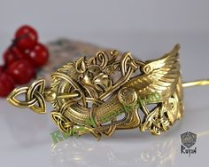 Griffin hair clip. Griffin Jewellery. Viking by RuyaNBronzE