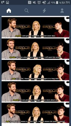 Hunger Games Cast, Hunger Games Movies, Hunger Games Humor, Josh And Jennifer, Movie Dialogues, Movie Lines, We Meet Again, Jennifer Lawrence, Movies Showing