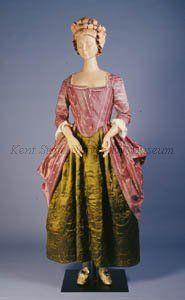 Robe anglaise à la polonaise, English, 1780s