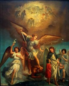 All about religion, music, christian art and catholics stuff. Catholic Art, Religious Art, St Michael Tattoo, Angel Hierarchy, San Gabriel, Kunst Online, Biblical Art, Angels In Heaven, Heavenly Angels