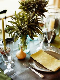 Beautiful Thanksgiving Centerpiece Ideas for Your Table Display—Use Greenery as a Focal Point