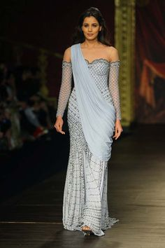 Designer- Monisha-Jaising- Opera- collection- India-Couture- Week-2017 (4)-off-shouder-pre-draped-dress