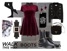"""""""Street style with Chelsea boots"""" by isayproma ❤ liked on Polyvore featuring Merola, Prada, Yves Saint Laurent, Balenciaga, Miss Selfridge, Kate Spade, Casetify and Oscar de la Renta"""