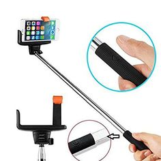 Bluetooth Selfie Stick Monopod Wireless Remote Shutter Selfportrait Extendable Rechargeable for Boost Mobile iPhone SE  Boost Mobile HTC Desire 626s  Boost Mobile Huawei Union ** Check out this great product.
