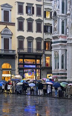 Florence, Italy - I've done this...sightseeing in gorgeous Europe in the cold and rain.  Ahh...the memories...!