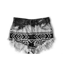Sharpie DIY denim shorts found on Polyvore
