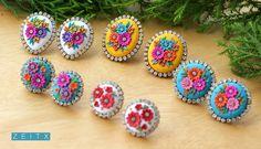 polymer clay earrings by zeitx