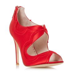 DUNE LADIES FORTUNES BEAUTY - Scallop And Frayed Edge High Heel Sandal - red | Dune Shoes Online