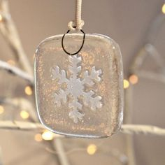 Set of 5 Contemporary Hand Made Snowflake Christmas Tree Decorations - So Pretty! £15.00