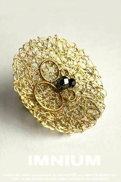 Gold Satellite brooch  by *IMNIUM