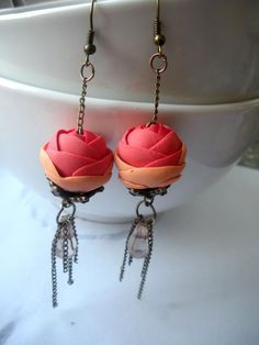 polymer clay earrings..must learn how to make these! :D