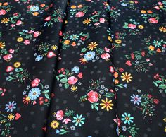 Robert Kaufman Hidden Canyon WEL-19806-438 Floral Night Robert Kaufman, Patterned Shorts, Night, Floral, Fashion, Moda, Printed Shorts, Fashion Styles, Flowers