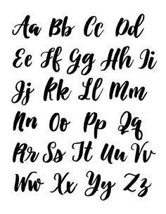 Lettering Fonts Discover alisaburke: creating with make wells: water brush letting part 2 Lettering Brush, Lettering Guide, Bullet Journal Lettering Ideas, Journal Fonts, Bullet Journal Writing, Brush Script, Script Lettering, Cursive Alphabet, Hand Lettering Alphabet