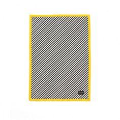 Black Stripe Quilted plaid geel