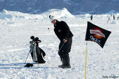Playing Golf On Glaciers in Greenland at the World Ice Golf Championships...Don't get me wrong I will freeze but this would be so fun....