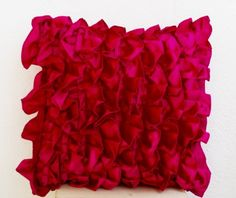 Throw Pillow Cover- Hot Pink Ruffle Pillow Cover -Decorative Pillow - Pink Ruffle Throw Pillow Cover - Ruffle Throw Cushion Cover - Pink Cushion Cover - Couch Pillow Cover- Toss Pillow Cover in Hot Pink Satin with Ruffle Design (16 x 16) Amore Beaute http://www.amazon.com/dp/B00FKW9US6/ref=cm_sw_r_pi_dp_8bG7tb165P52Y