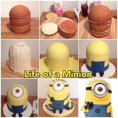 Friend of mine wants a minion cake. Minion Torte, Bolo Minion, Minion Cupcakes, Pretty Cakes, Cute Cakes, Pastel Minion, Fondant Cakes, Cupcake Cakes, Minion Birthday