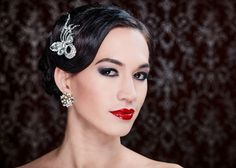 1920's inpspired bridal wedding hair style created by Chris Fordham
