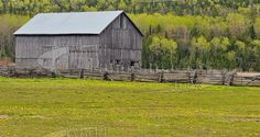 Old Barn, Pasture, near Bowser's Corner, Manitoulin Island, Ontario, Canada Manitoulin Island, Barns, Old Photos, Bowser, Ontario, Canada, House Styles, Old Pictures, Antique Photos