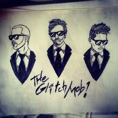 "@invincibletucan's photo: ""#GlitchMobInspired #drawing of @The Glitch Mob"""