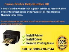 Mostly common users prefer to go with Canon to fulfill their printing requirements but they forget that even this printer can face technical glitches. You can hire professional printer technicians to resolve your each and every printer related problems by dialing 0808-238-7544 Canon Printer Contact Number UK.