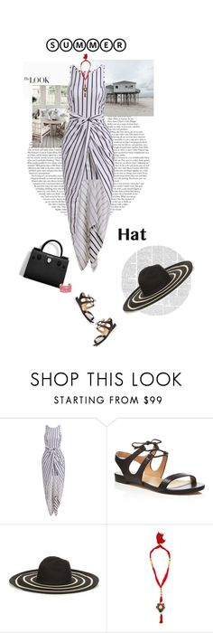 """Top It Off: Summer Hats"" by likepolyfashion ❤ liked on Polyvore featuring Pour La Victoire, Christian Dior, Filù Hats, Rosantica, summerhat, laceupsandals and PVStyleInsiderContest"