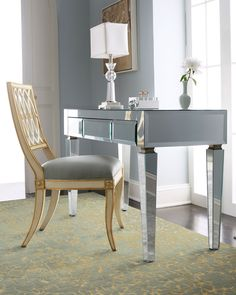Mirrored Desk - Neiman Marcus