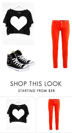 """""""Heart"""" by mps19 ❤ liked on Polyvore featuring AG Adriano Goldschmied and Converse"""