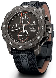 Victorinox Swiss Army Alpnach Black Ice Chronograph Watch