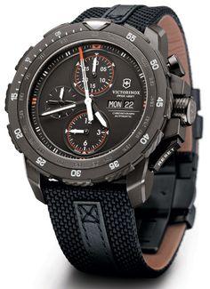 Victorinox Swiss Army Alpnach Black Ice Chronograph Watch
