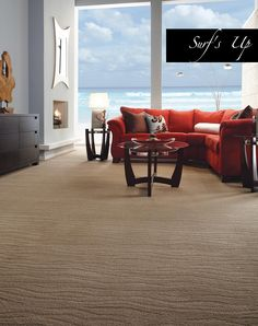 Tuftex Carpets of California features the most sophisticated, carpet styles in the floor covering market. Our West Coast design team creates the most cutting edge carpet styles for today's interiors. Teal Carpet, Diy Carpet, Patterned Carpet, Modern Carpet, Carpet Ideas, Carpet Colors, Carpet Stairs, Carpet Flooring, Cost Of Carpet