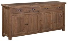 Alfresco Large Sideboard in Rustic Tawny Furniture Direct, Large Sideboard, Dining Room Table, Recycled Wood Furniture, Furniture Store, Dining Room Buffet, Furniture, Retail Furniture, Home Furnishings