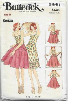 Vintage Dress Patterns, Clothing Patterns, Vintage Dresses, Vintage Outfits, Vintage Fashion, Moda Vintage, Vintage Apron, Young Designers, Dress Cuts