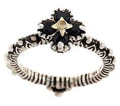 Barbara Bixby Sterling/18K Gemstone Flower Stack Ring, Just Purchased In Onyx & Citrine!