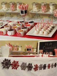 Ideas Birthday Party Food Ideas For Adults Entertaining Hot Chocolate Bars F. - Part - Party Hot Chocolate Party, Chocolate Toffee, Semi Sweet Chocolate Chips, Hot Chocolate Toppings, Chocolate Desserts, Christmas Baby Shower, Baby Shower Winter, Shower Baby, Noel Christmas