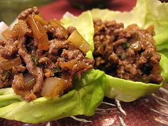 Asian Ground Beef Lettuce Wraps - No Sugar!