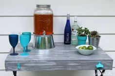 diy bar cart laundry basket upcycle, diy, outdoor living, woodworking projects