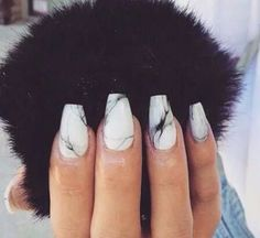 Marble is so in right now so why not put it on your nails ! But on the real I actually dig this with the coffin shaped nails