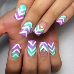 This would be really easy to recreate using chevron tip guides instead of polish