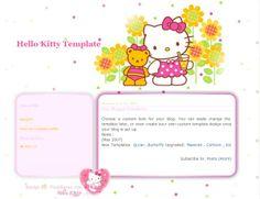 Hello Kitty blogger template